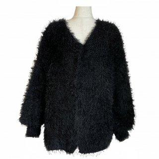 shaggy cardigan(black)