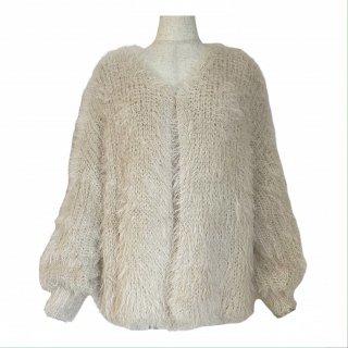 shaggy cardigan(ivory)