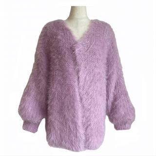 shaggy cardigan(lavender pink)