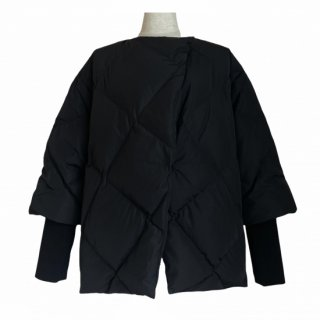 ribsleeve quilting down jacket