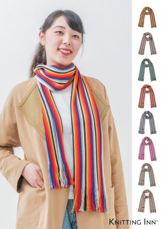 F-3303M 毛混リブマフラー2018/RIBBED SCARF<img class='new_mark_img2' src='https://img.shop-pro.jp/img/new/icons13.gif' style='border:none;display:inline;margin:0px;padding:0px;width:auto;' />