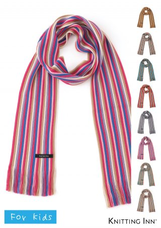 F-3303K 毛混リブ子どもマフラー2018/RIBBED SCARF FOR KIDS