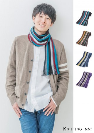F-3304 ウールリブマフラー2018/WOOL RIBBED SCARF<img class='new_mark_img2' src='https://img.shop-pro.jp/img/new/icons13.gif' style='border:none;display:inline;margin:0px;padding:0px;width:auto;' />