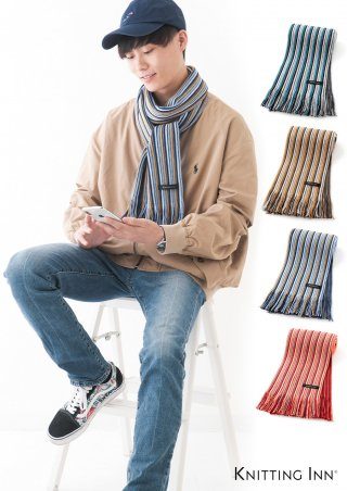 F-3323 細ランダムウールリブマフラー2019/WOOL RIBBED SCARF<img class='new_mark_img2' src='https://img.shop-pro.jp/img/new/icons5.gif' style='border:none;display:inline;margin:0px;padding:0px;width:auto;' />