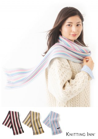 F-3324 カシミヤリブマフラー2019/CASHMERE RIBBED SCARF<img class='new_mark_img2' src='https://img.shop-pro.jp/img/new/icons5.gif' style='border:none;display:inline;margin:0px;padding:0px;width:auto;' />