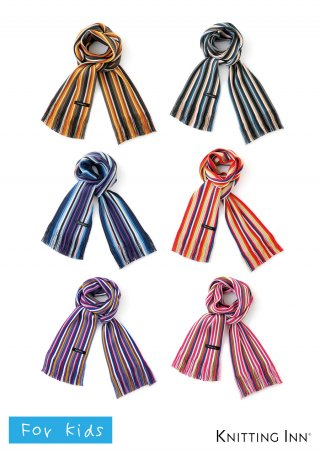 F-3319K 毛混リブ子どもマフラー2019/RIBBED SCARF FOR KIDS