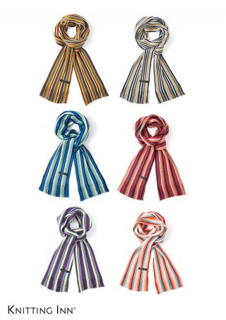 F-3333K 毛混リブ子どもマフラー2020/RIBBED SCARF FOR KIDS