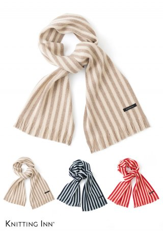 F-3331 ラムウール棒縞マフラー2020/LAMB WOOL STRIPED SCARF<img class='new_mark_img2' src='https://img.shop-pro.jp/img/new/icons5.gif' style='border:none;display:inline;margin:0px;padding:0px;width:auto;' />