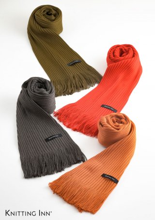 F-3349 毛混無地リブマフラー2021/RIBBED PLAIN SCARF<img class='new_mark_img2' src='https://img.shop-pro.jp/img/new/icons5.gif' style='border:none;display:inline;margin:0px;padding:0px;width:auto;' />