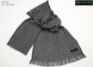 F-3203 ウールジグザグツートンマフラー2015/WOOL ZIGZAG TWO-TONE SCARF