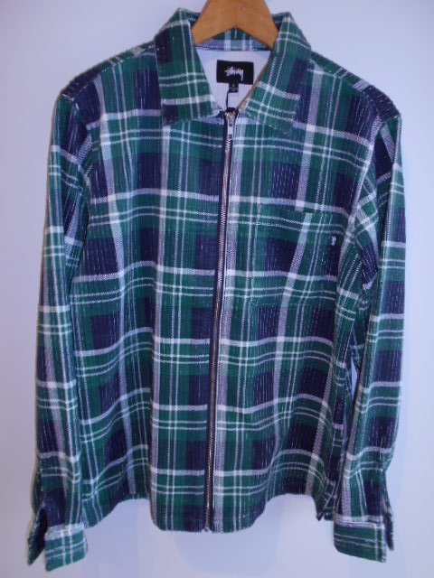 BIG WALE CORD ZIP UP L/S SHIRT