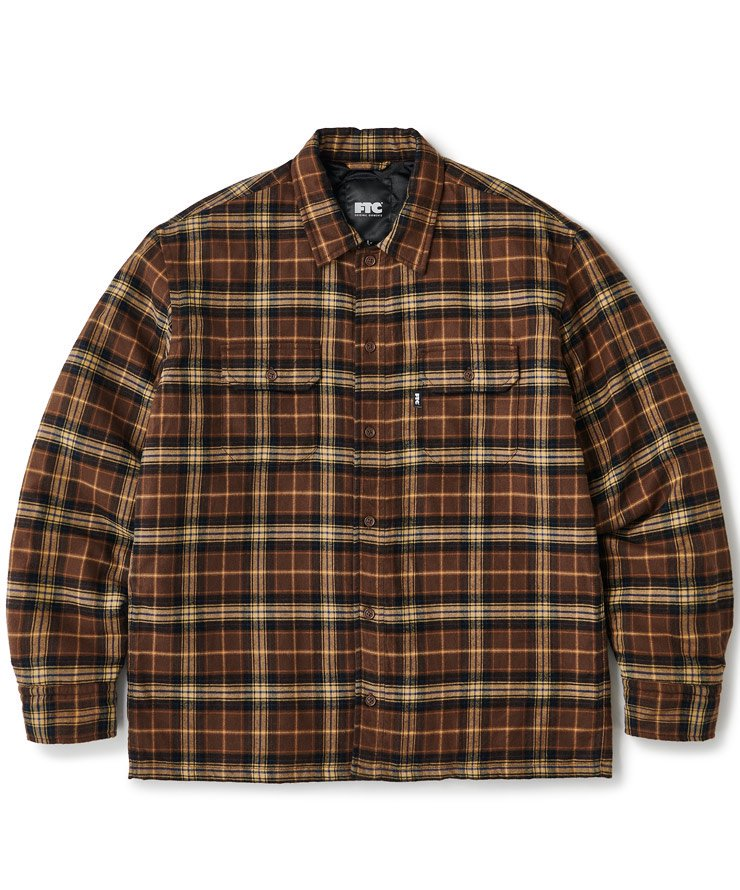 QUILTED LINED PLAID NEL SHIRT 送料無料