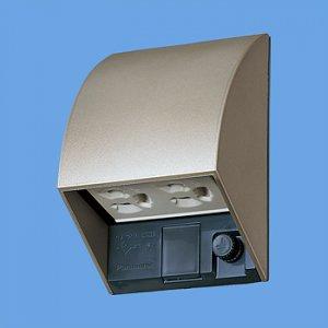 パナソニック WK4602QK スマート接地防水ダブルコンセント(抜け止め式・アースターミナル付)(露出・埋込両用)(シャンパンブロンズ)