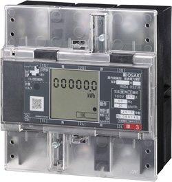 大崎電気工業 A6DA-RS31 電力量計 100V 250A コンパクトEM 発信装置付 普通級 三相3線式