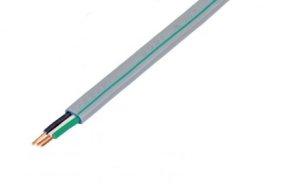 矢崎 VVF2.0-3C(GM) 600Vビニル絶縁ビニルシースケーブルGマーク(黒白緑) 平型 3心 2.0mm 100m