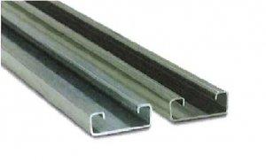 八州電工 HL-D15 レールエース(D15タイプ)2.5m 溶融亜鉛めっき鋼板
