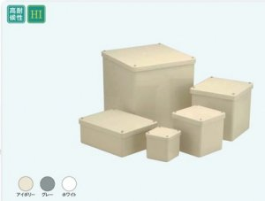 日動電工 PB101010KGHW プルボックス カブセ蓋 正方形(ノック無) 100x100x100 グレー