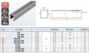 ネグロス SD-D2-4M ワールドダクター ダクターチャンネル(穴なしタイプ)4m 高耐食めっき鋼板