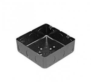 外山電気 OB544B ブラック四角アウトレットボックス 大四角浅形 側面ノック  22x3