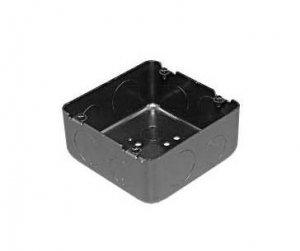 外山電気 OB553B ブラック四角アウトレットボックス 大四角深形 側面ノック 22x1 28x1