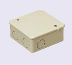 未来工業 PVK-ANJ PVKボックス 中形四角(浅型) ノック付 ベージュ
