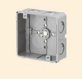 未来工業 CDO-4A 埋込四角アウトレットボックス 中形四角(浅型) グレー
