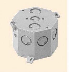 未来工業 8CB-75N 八角コンクリートボックス 深型 深さ75mm グレー
