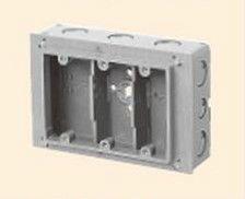 未来工業 CSW-3N 埋込スイッチボックス (塗代付) 3個用 側面ノックアウト グレー