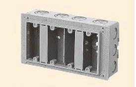 未来工業 CSW-4N 埋込スイッチボックス (塗代付) 4個用 側面ノックアウト グレー