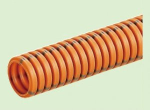 未来工業 MFCD-28 CD単層波付管 ミラフレキCD 近似内径28mm オレンジ[法人名あれば]