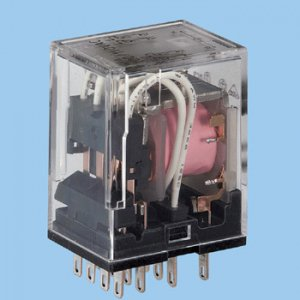 オムロン MY4N-CR AC100V CR回路・動作表示灯内蔵形ミニパワーリレー 極数4 AC100V
