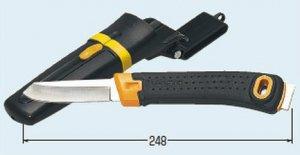 未来工業 DM-4 デンコーマック (ハンマー付) ステンレス刃 ナイフ全長248mm