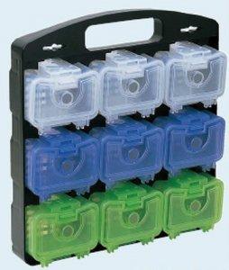 未来工業 DB-9C デンコーキャリーボックス (携帯・保管用の収納ケースに小物ケース9ケを セット)