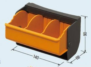 未来工業 DB-1 デンコーボックス (小物箱) 黄(蓋色)