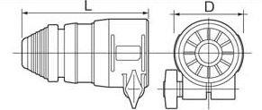 パナソニック EZ9HX402 はつりアタッチメントSDSプラス型シャンク φ67×125mm