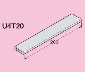 ネグロス U4T20 ユニックバンド 保護チューブ 適合バンド幅:20mm 塩化ビニル グレー 20本入