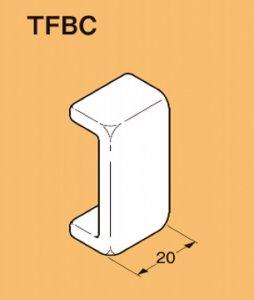 ネグロス TFBC 二重天井用 野ぶち受け材用端末保護キャップ 軟質塩化ビニル 黄 10個入