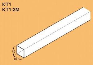 ネグロス KT1 カクター 角パイプ 定尺 1.2m、定尺質量 0.39kg 溶融亜鉛めっき鋼板