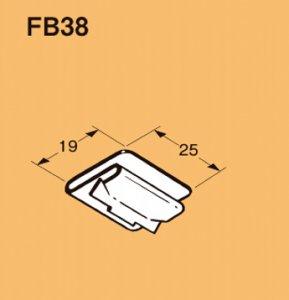 ネグロス FB38 二重天井用 軽みぞ形鋼用管、ボックス支持金具 アウトレットボックス