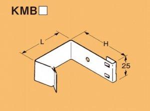 ネグロス KMB6545 ネグロック 角間柱用ボックス支持金具 ダクロタイズド塗装