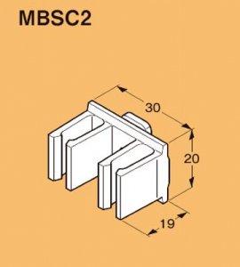 ネグロス MBSC2 ネグロック 角間柱用ケーブル支持具(20個入)