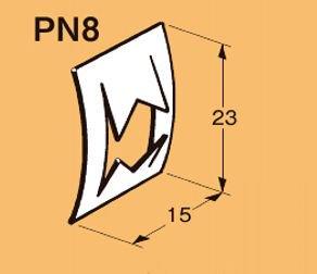 ネグロス PN8 ネグロック 丸鋼止め金具(50個入) 電気亜鉛めっき(U)