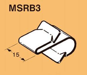 ネグロス MSRB3 ネグロック 丸鋼・全ネジ用ボックス支持金具(50個入) 電気亜鉛めっき(U)