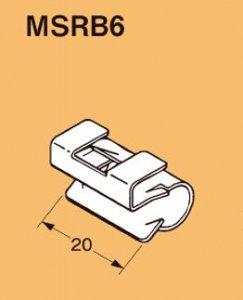 ネグロス MSRB6 ネグロック 丸鋼・全ネジ用ボックス支持金具(50個入) ダクロタイズド塗装