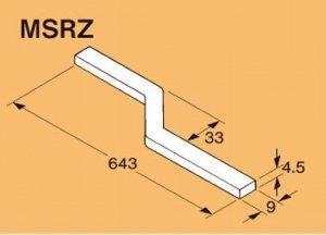 ネグロス MSRZ ネグロック 角バー 電気亜鉛めっき(C)