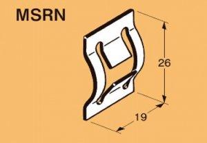 ネグロス MSRN ネグロック 角バー止め金具 ダクロタイズド塗装(20個入)