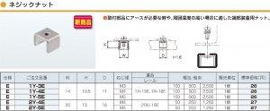 ネグロス 1Y-3 ネジック ネジックナット 電気亜鉛めっき(C)