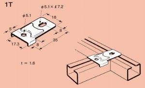 ネグロス 1T ネジック 1R用枠組金具 電気亜鉛めっき(C)