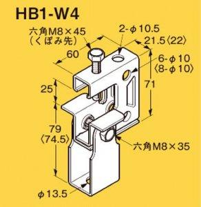 ネグロス Z-HB1-W4 ネグロック 吊りボルト支持金具 一般形鋼・リップみぞ形鋼用