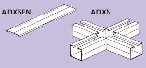 ネグロス ADX5 アルミダクト AD5用エルボ本体(水平X形曲り)